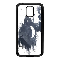 Wolf Song 3 Black Silicon Rubber Case for Galaxy S5 by Balazs Solti