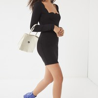 UO Scalloped Square-Neck Mini Dress | Urban Outfitters