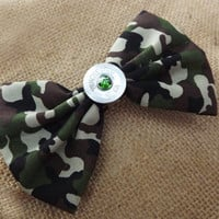 Camo hair bow, shotgun hair accessories, bullet jewelry, camo girl bows, camouflage accessories, winchester shotgun, girl hunters gifts