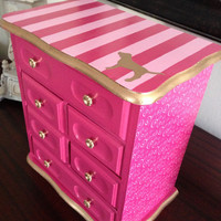 Vintage Jewelry Box Upcycled To Victoria's Secret Pink Inspired