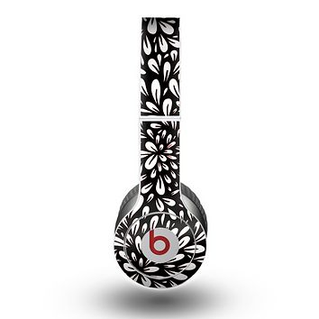 The Black Floral Sprout Skin for the Beats by Dre Original Solo-Solo HD Headphones