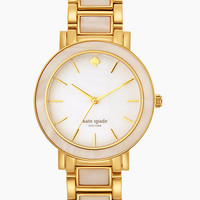 Kate Spade Large Mother Of Pearl Gold Gramercy Watch Gold/White ONE