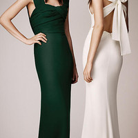 Bow Back Silk Gown