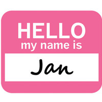 Jan Hello My Name Is Mouse Pad