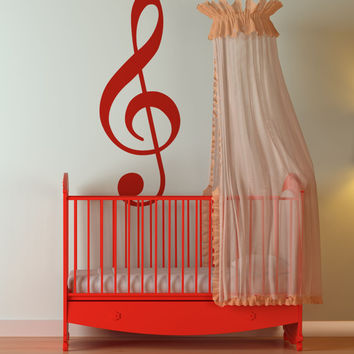Vinyl Wall Decal Sticker Treble Clef Music Note  #892