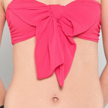 Candyspell — Coral Red Bralette Crop Top
