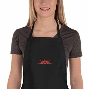 OLena Art Winter Games Embroidered Apron