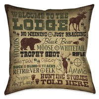 Welcome to the Lodge Indoor Decorative Pillow