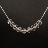 Crystal, Row, Carrie, Gold filled, Sterling silver, Chain, Necklace