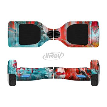 The Red and Blue Abstract Oil Painting Full Body Skin Set for the Smart Drifting SuperCharged Transportation iiRov