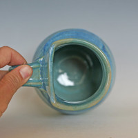Unique coffee mug with an asymmetrical rim, 24 oz,ceramic cup, handthrown mug, stoneware mug, wheel thrown pottery mug, ceramics and pottery