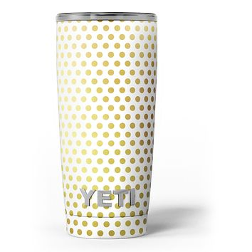The All Over Golden Dot Pattern - Skin Decal Vinyl Wrap Kit compatible with the Yeti Rambler Cooler Tumbler Cups