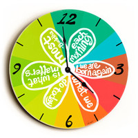 Each Morning Unique Wall Clock by Artist Lisa Weedn