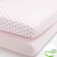 Child of Mine by Carter's Love is in the Air Set of 2 Fitted Crib Sheets - Walmart.com