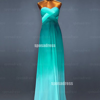 Long prom dresses, sexy prom dresses, green prom dresses, cheap prom dresses, chiffon prom dresses, bridesmaid dresses, evening dress, RE337
