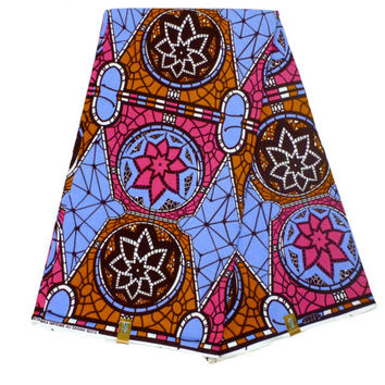 African Designer Fabric - Cotton Ankara Print - Ghanaian Dutch Wax - GTP NuStyle