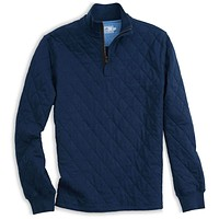 Georgetown Quilted 1/4 Zip Pullover in True Navy by Southern Tide
