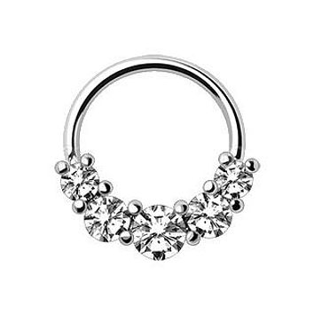 316L Stainless Steel Grand Cubic Seamless Ring