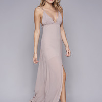 WYLDR Stay With Me Plunge Maxi Dress