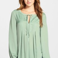 Women's Two by Vince Camuto Charmeuse Peasant Blouse,