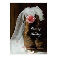 Country Rose Wedding Invitation from Zazzle.com