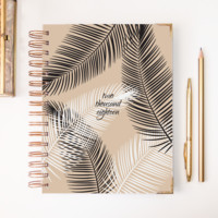 2018 Classic Planner – Black Leaves