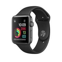 Refurbished Apple Watch Series 2, Space Gray Aluminum Case with Black Sport Band