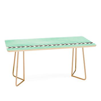 Allyson Johnson Mint Stripes And Arrows Coffee Table