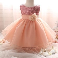 Tutu Dress for 0-2Y Girl 2017 Sequins Baby Princess Dress Kids Birthday Party Dresses for Toddler Girls Clothing Infant Costume