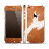 The Real Brown Cow Coat Texture Skin Set for the Apple iPhone 5s