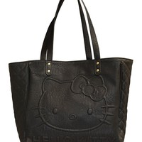 """""""Hello Kitty"""" Quilted Tote by Loungefly (Black)"""