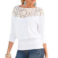 Sexy Women Blouse 2017 Plus Size Women Clothing Lace Shirts Fashion Casual Long Sleeve Pleadted White Black Jumper Tops Blusas