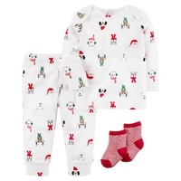 Baby Carter's Christmas Characters Top, Bottoms & Socks Set   null