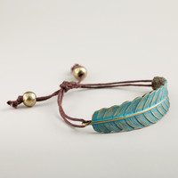Green Leaf Friendship Bracelet - World Market