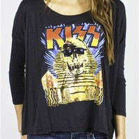 KISS Galaxy Long Sleeve Shirt by Junk Food available online at OldSchoolTees.com | | More Rock Tees and other Movie, Music, and Graphic Tees available from Old School Tees.