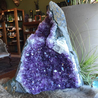 "Large Amethyst Geode 10.75"" Tall"