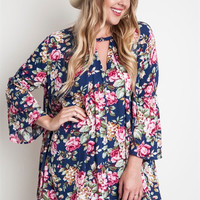 Front Porch Party Floral Maternity Top