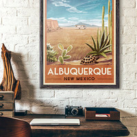 Breaking Bad RV Vintage Travel Poster of Albuquerque, New Mexico