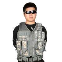 Outdoor Hunting Military Tactical Vest Wargame CS Body Molle Waistcoat Army Hunting Vest Safety Equipment Protective Combat Gear