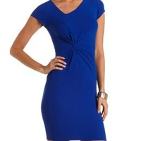 Knotted & Ruched Bodycon Dress by Charlotte Russe