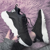 Nike Wmns Air Huarache Run Ultra Sports shoes Black