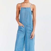 BDG Chambray Square-Neck Culotte Jumpsuit - Urban Outfitters