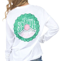 Lauren James Long Sleeve Tee- Grass is Green