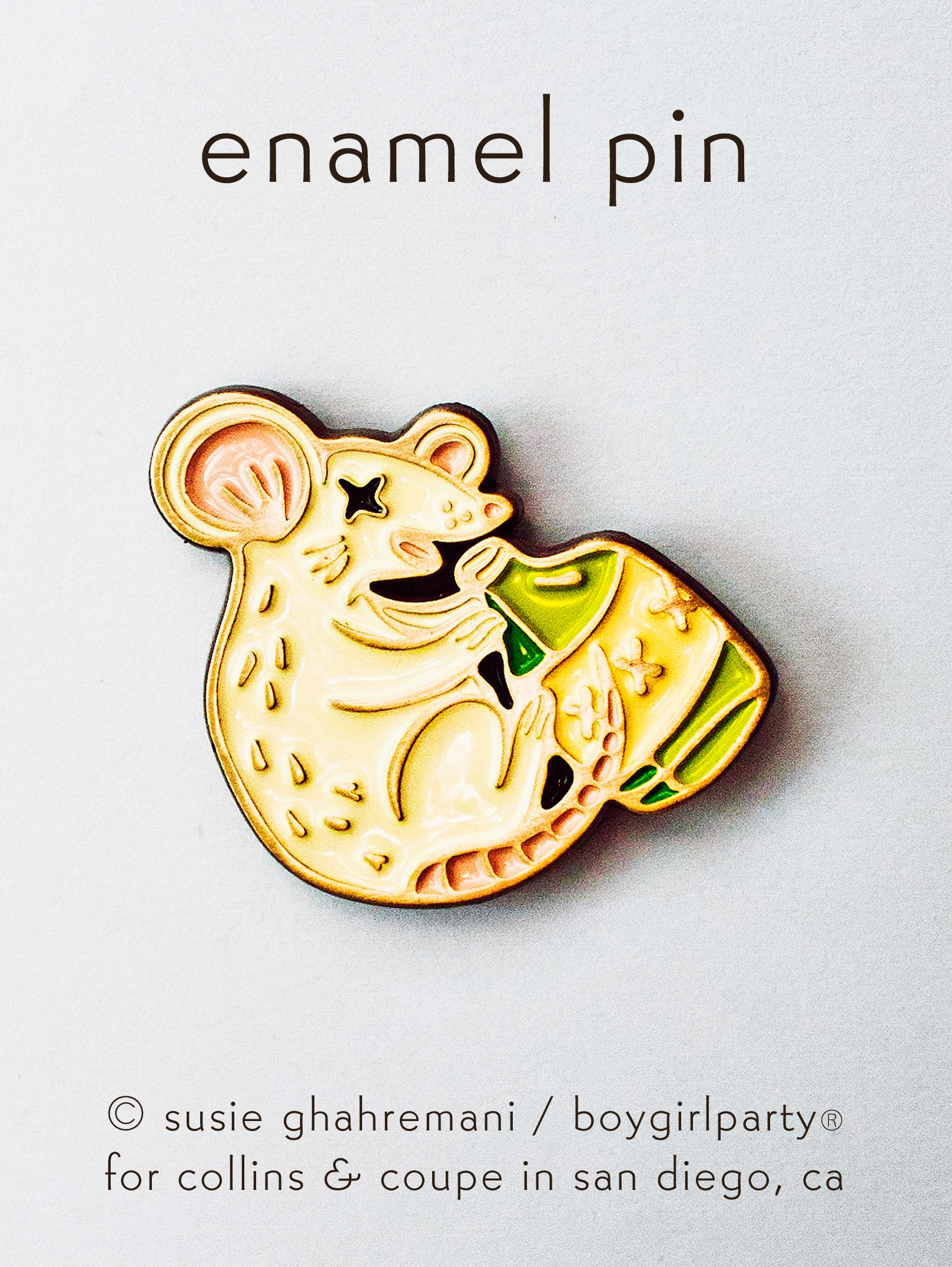 Image of Year of the Rat Pin – Lunar New Year Rat Enamel Pin by boygirlparty for Collins & Coupe
