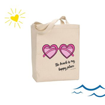 The beach is my happy place.- philoSophie's Canvas Tote Bag