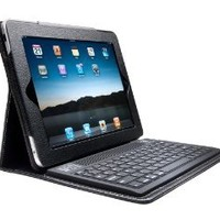 Black Ipad 2 & Ipad 3 Leather Case With Stand & Bluetooth Wireless Keyboard + NEW Easy Sync feature TM IPAD2 IPAD3: Computers & Accessories