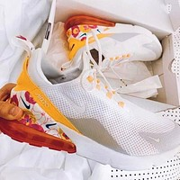 Nike Air Max 270 Flyknit Trenidng Women Flower Casual Sport Running Shoes Sneakers