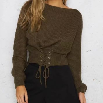 Autumn and winter new strap sexy sweater sweater