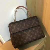 """Louis Vuitton"" Retro Multicolor Tartan Single Shoulder Bag Women Large Capacity Handbag Tote Bag"