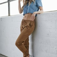 Bullhead Denim Co. Chino Twill Drawcord Jogger Pants - Womens Pants